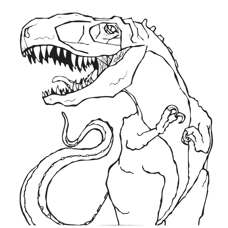 t-rexlines traced